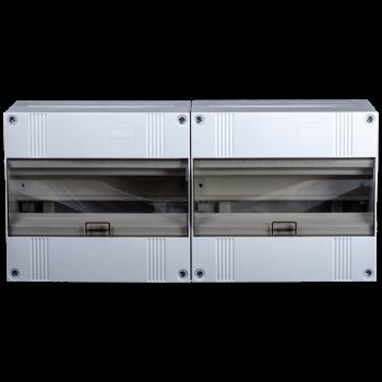 Lege groepenkast 24 modulen met buisinvoer brede uitvoering, IP40