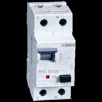 Iskra Aardlekautomaat 1F+N 16A 10mA B Type A 10kA