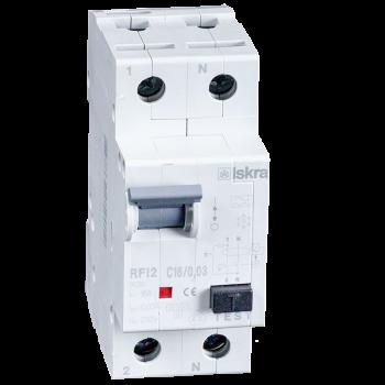 Iskra Aardlekautomaat 1F+N 16A 30mA C Type A 10kA