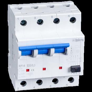 Iskra Aardlekautomaat 3F+N 20A 30mA B Type A 10kA