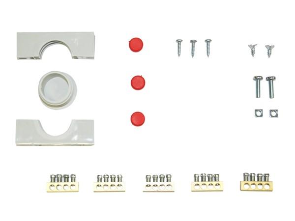 1 fase groepenkast 5 groepen aardlekautomaten 12 modulen met buisinvoer IP40 toebehoren