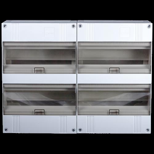 2x24 modulen groepenkast combinatie 48 modulen modulair met buisinvoer