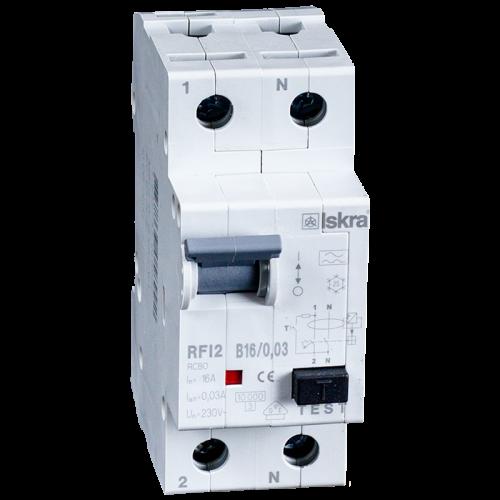 aardlekautomaat 1+N 16A 10mA B Type A 10kA