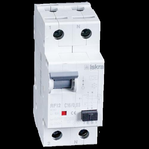 aardlekautomaat 1+N 16A 30mA C Type A 10kA