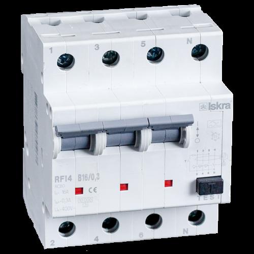 aardlekautomaat 3+N 16A 100mA B Type A 10kA