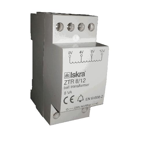 Bel-transformator 4-8-12VoltDC