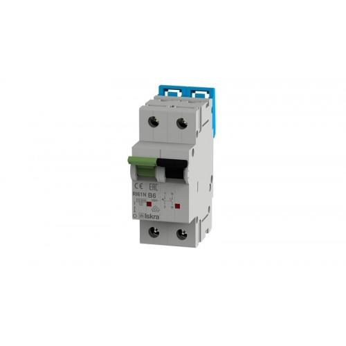 Installatieautomaat 1N 6A B 10kA 2 module Iskra