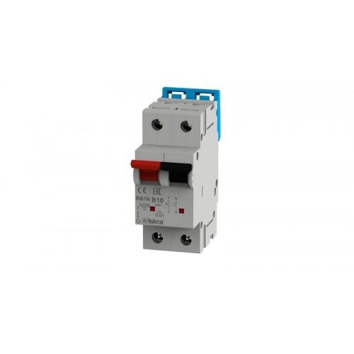 Installatieautomaat 1N 10A B 10kA 2 module Iskra