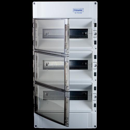 lege groepenkast IP65 spatwaterdicht 3 rijen 42 modulen