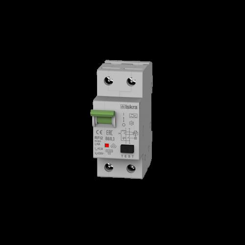 Aardlekautomaat 1N 6A B 300mA 10kA Iskra RFI2-6A-B-0,3