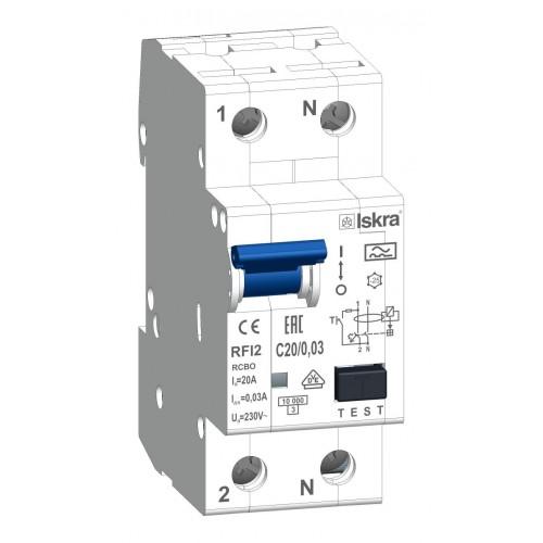 aardlekautomaat 1+N 20A 30mA c Type A 10kA