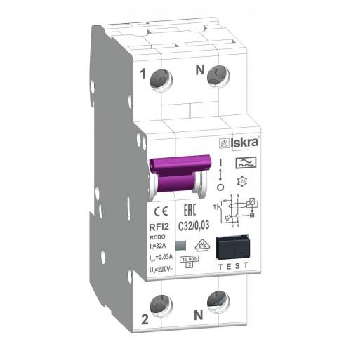 aardlekautomaat 1+N 32A 30mA C Type A 10kA