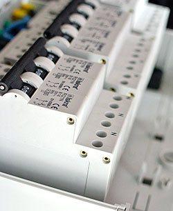 Een ingezoomd groepenkast component van Superflink Groepenkast en meterkast componenten